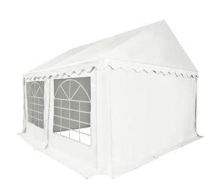 Carpa de jardín de PVC 4x4 m blanco
