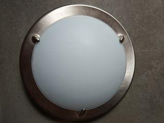 Plafón circular plata y blanco Ikea