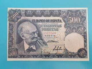 Billete 500 pesetas 1951, sin serie.