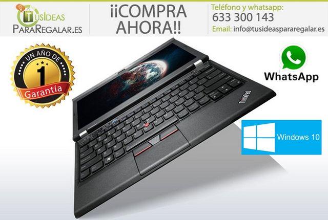 Portátil Lenovo X230, i5/8Gb Ram/SSD/Win10 Gratis