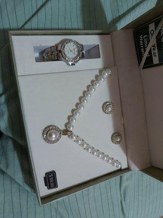 collar reloj y pendientes marca cote d'azur
