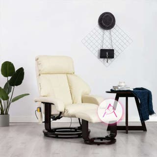 Sillón de masaje reclinable TV cuero sintético bla