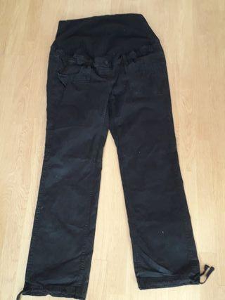 pantalón premamá negro H&M T48