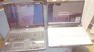 ordenador portátil acer y toshiba