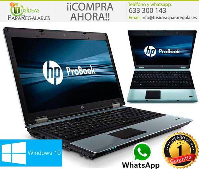 """Portátil Hp Probook 6550b, i5/15,6""""/Win10 Gratis"""