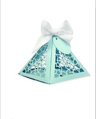 4 Troqueles thinlits caja regalo sizzix etiqueta