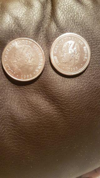 2 monedas de 2000 peseta 1998. y 1996