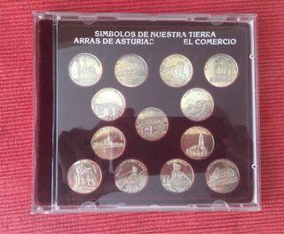 Arras de Plata monedas símbolos de Asturias