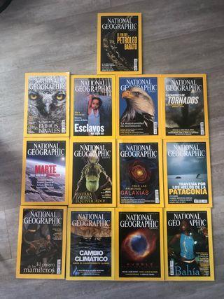 13 revistas de National Geographic