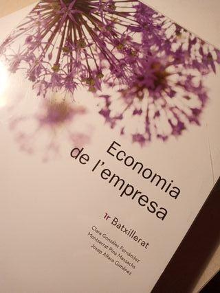 Libro Economia de l'empresa 1r batxillerat