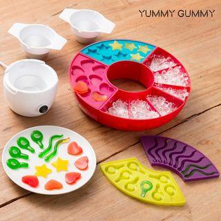 Máquina para hacer gominolas con zumos de frutas