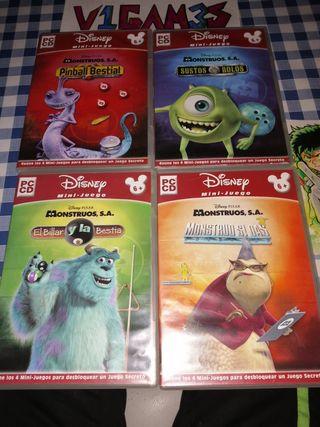 Pack Videojuegos Infantiles Monstruos, s. a.