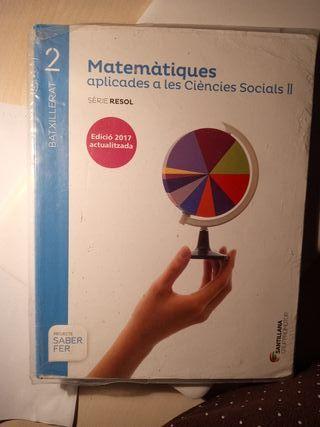 Libro Matemàtiques apl. CCSS 2n batxillerat