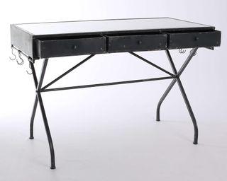 escritorio metal con perchas laterales