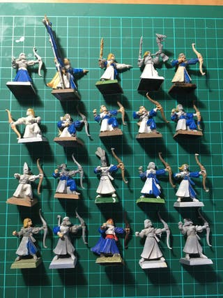 20 arqueros altos elfos warhammer