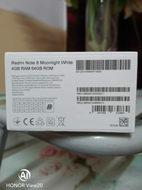 64gb/48mpxl/Xiaomi redmi note 8/2019 Sin estrenar