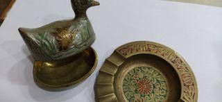 Lote Antigüedades Cenicero y Pato
