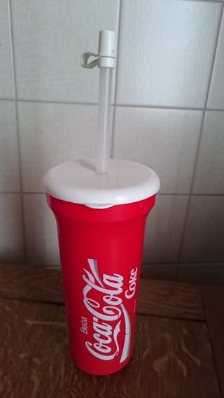 Vaso de plástico de Coca Cola cines años 90