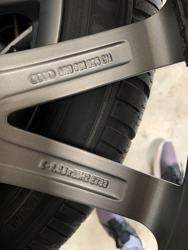 Llantas originales Audi Q5 SQ5 S-Line 20 pul