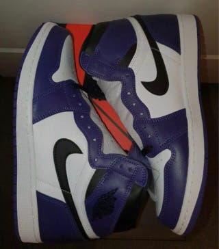 AIR JORDAN 1 court purple white 43