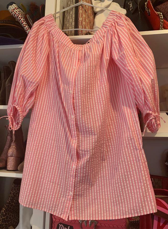 Vestido rayas rosa Zara