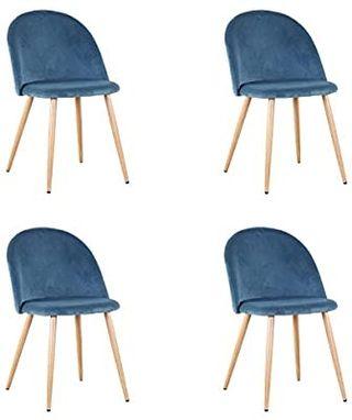 EGOONM Juego de 2 sillas de Comedor de Terciopelo