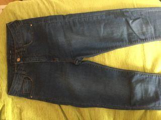 Vaquero-leggings azul