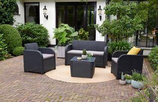 Muebles de terraza jardín
