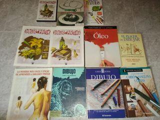 lote de libros de dibujo y pintura