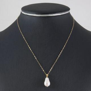 Cadena Con Colgante Perla y Oro de Ley