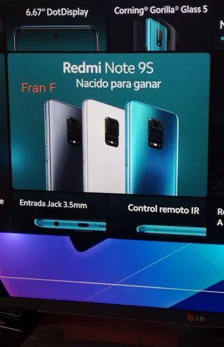 Xiaomi redmi note 9S 4GB 64GB versión global