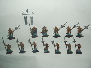 13 Guardia Negra Elfos Oscuros de metal