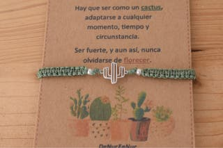 Pulsera Cactus Plata de Ley