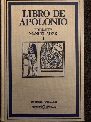 Manuel Alvar Lopez Libro de apolonio 3 tomos