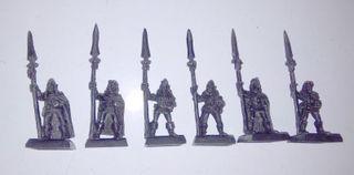 6 lanceros elfos silvanos de metal 4ª y 5ª edición