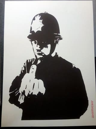 Banksy - Rude Copper - Silkscreen Edicion Limitada