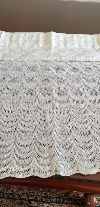 tela de encaje, cortina o visillo
