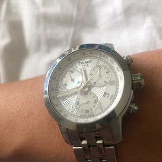 Reloj mujer Tissot PRC 200 de acero y madre perla