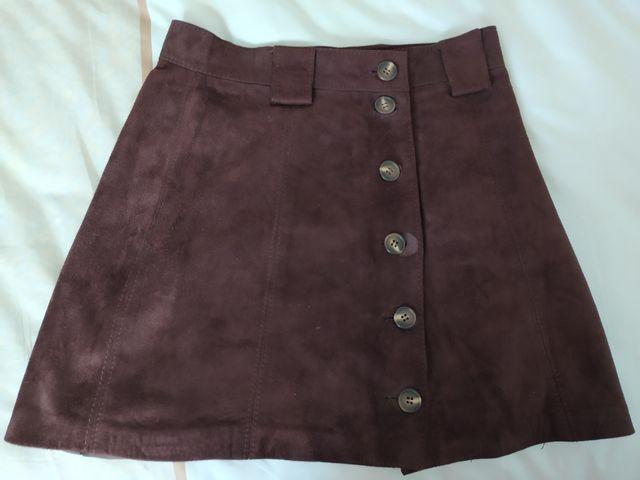 falda ante marrón vintage