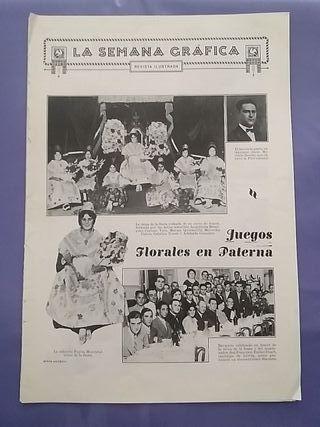 Semana Gráfica 1929:Juego Florales Paterna