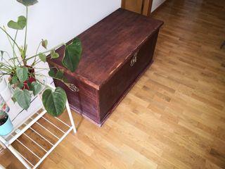 Baúl de madera maciza roble-haya