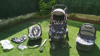 Capazo,grupo 0 y silleta Babyhome con complementos