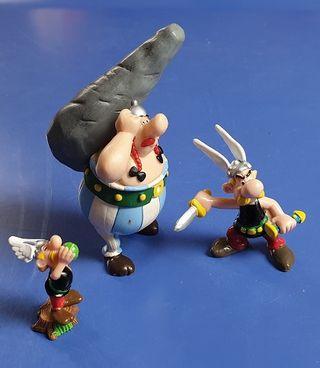 Miniaturas muñecos Asterix y Obelix