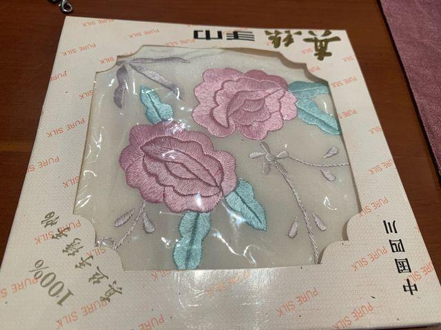 Pañuelo de seda auténtica precioso