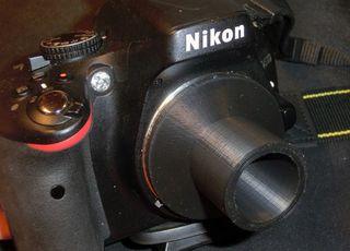Adaptador telescopio para camara Nikon