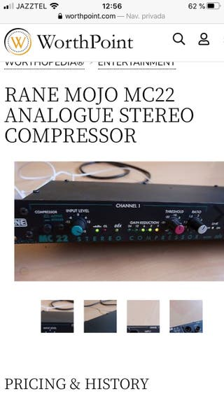 Compresor audio Rane mc 22 mojo profesional