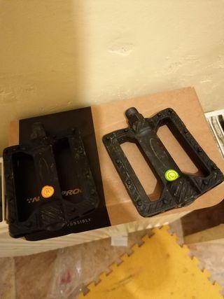 Black plastic pedals