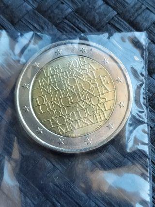 Moneda 2€ Portugal 2018 - Sin circular