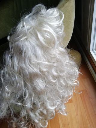 Peluca Blanca Rizo