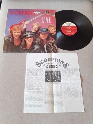 Scorpions vinilo coleccionistas.Live lp Korea pres